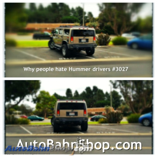 Why People Hate Hummer Drivers Reason #3027