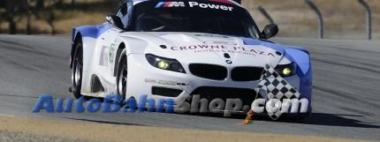 Dirk Müller and John Edwards, driving the No. 56 BMW Z4 GTE, scored a third place finish in today's four-hour American Le Mans Monterey race picture